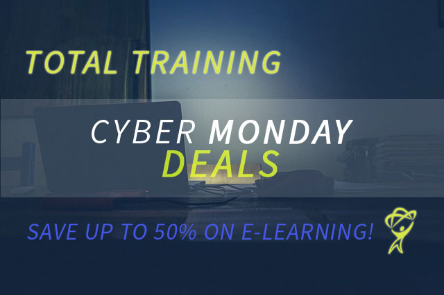Cyber Monday Deals at Total Training
