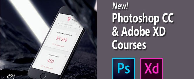 Adobe Photoshop CC & Adobe XD new courses