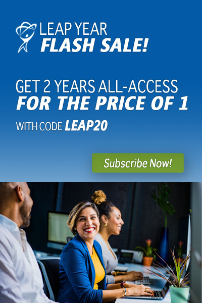 Leap Year 2-for-1 Flash Sale