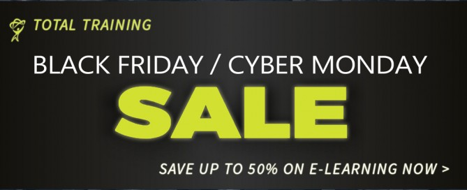 Cyber Monday Sale at totaltraining.com