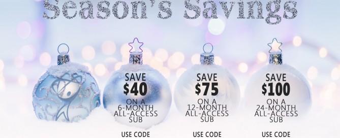 Season's Savings from Total Training ornament image