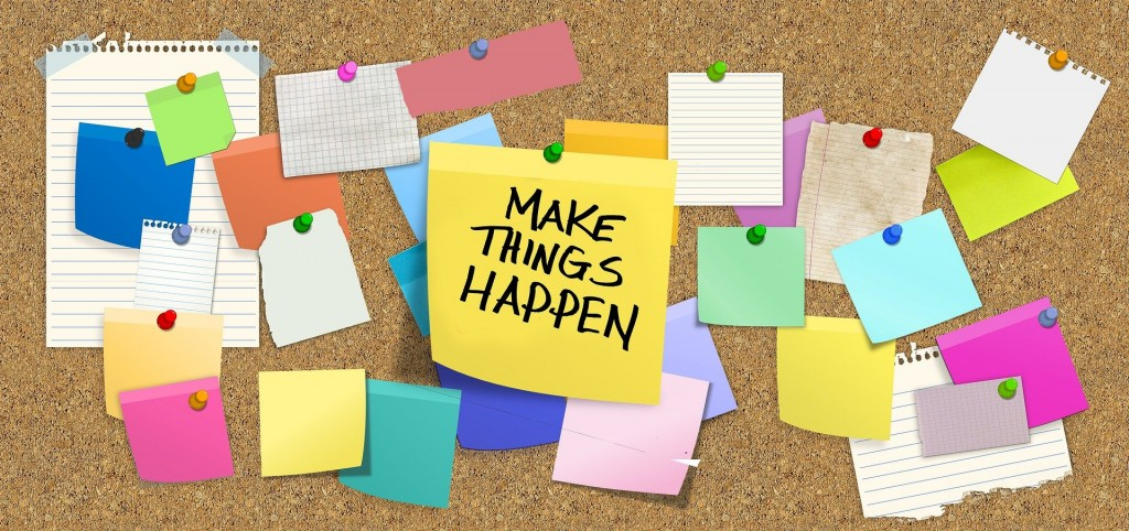 Make Things Happen with Total Training - bulletin board image header